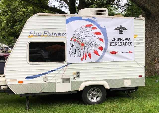 Chippewas sign Indian Guides Spring Campout June 2019 Four Feathers IMG_6770