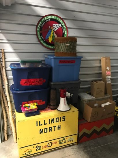 Storage Camping and tribe stuff _ Four Feather Nation Storage Unit October 2017 _IMG_7109