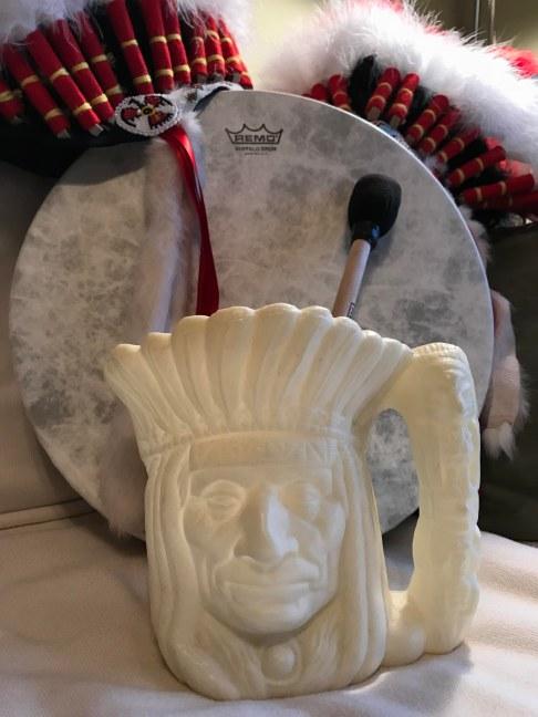 IL North Guides headdress and mug