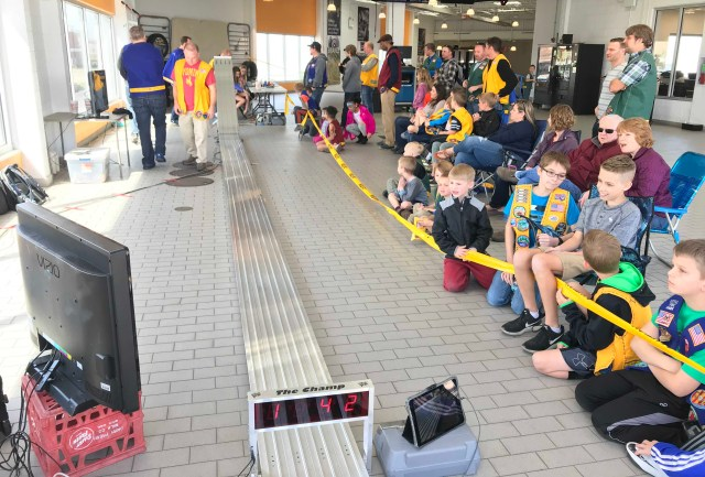 the track Pinewood Derby 2018 _IMG_7391